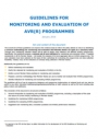 Guidelines for Monitoring and Evaluation of AVR(R) Programmes (2015)
