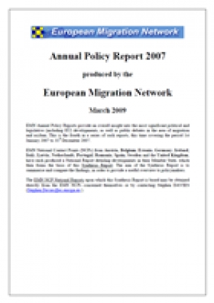 Annual Report on Migration and Asylum Policies 2007
